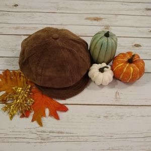 Gap Newsboy Brown Suede Hat